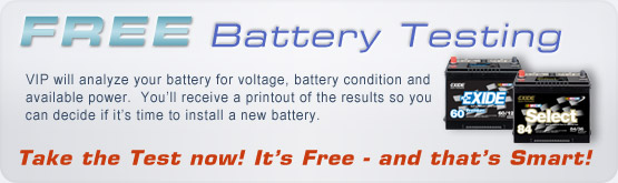 FREE Battery Testing!